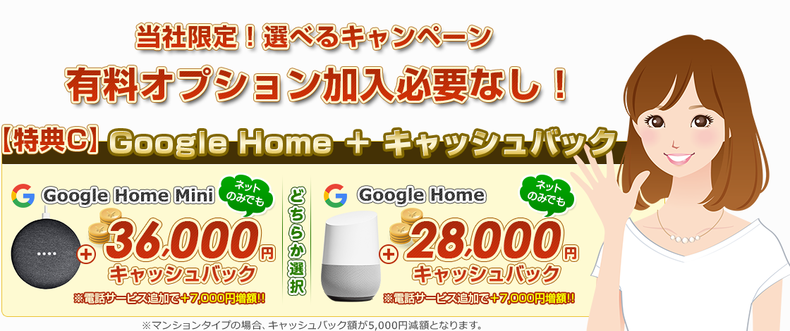 google homeプレゼント!